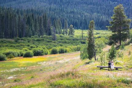 Colorado wedding photographer, outdoor wedding, Winter Park