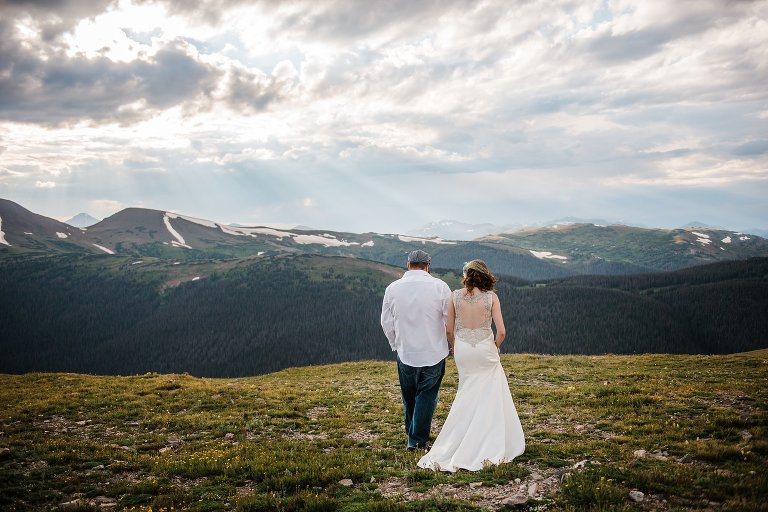 Colorado wedding photography, mountain elopement