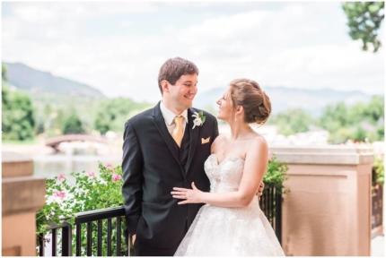 Broadmoor wedding, Colorado Springs, outdoor portrait
