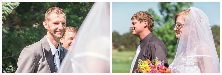 Black Forest wedding, outdoor ceremony, Colorado