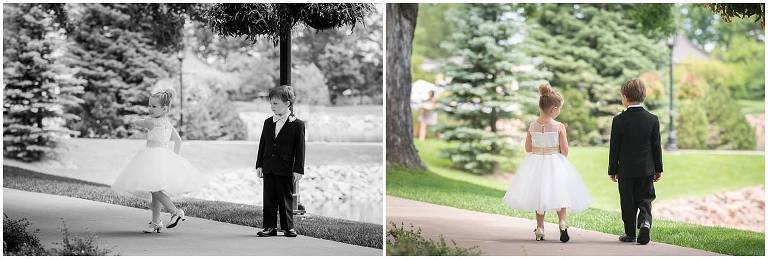 Broadmoor wedding, Colorado Springs, St Paul, flower girl
