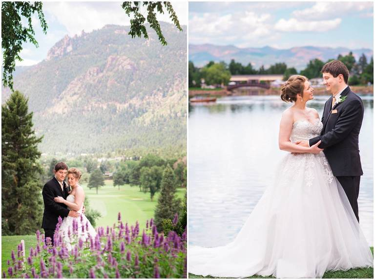 Broadmoor wedding, Colorado Springs, outdoor portrait